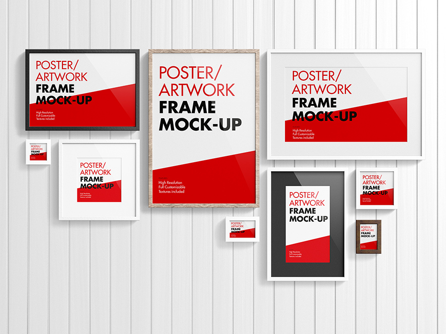Poster Artwork Frame Mock Up Premium And Free Mockups