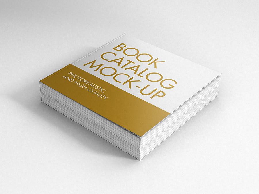 Book Catalog Mock Ups Square Premium And Free Mockups