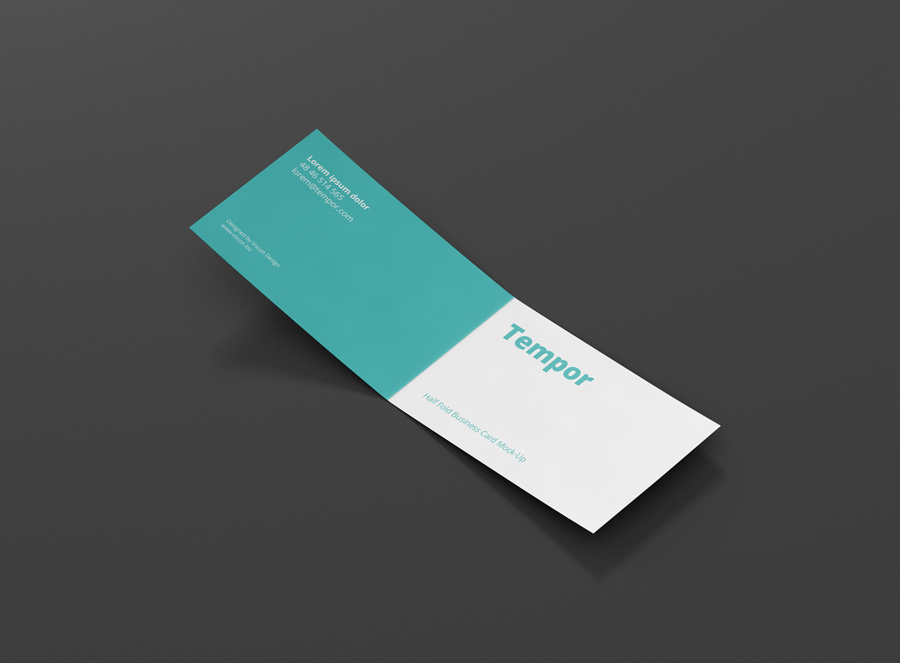 Folded Business Card Mock-Up - Premium and Free Mockups for your ...