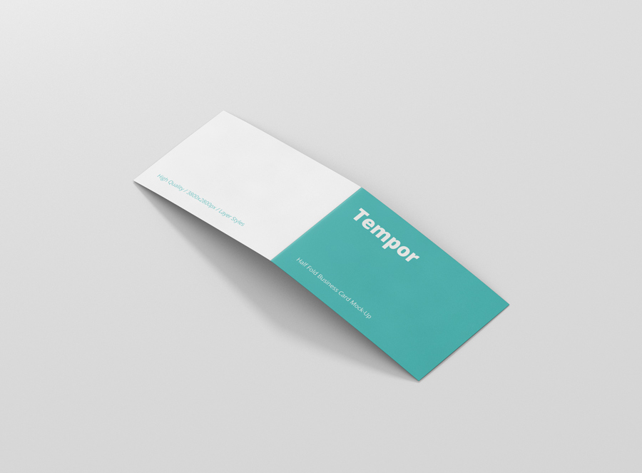 Folded Business Card Mock Up Premium and Free Mockups