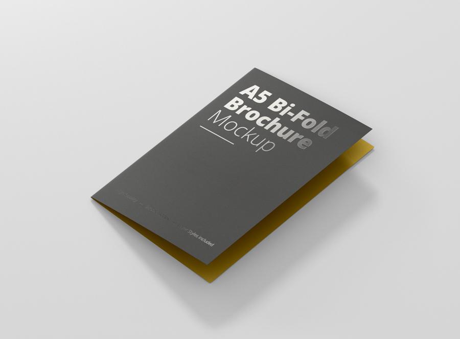 a5 bi fold brochure mockup premium and free mockups for your