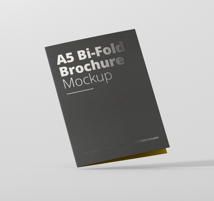 a5 bi fold brochure mockup premium and free mockups for your