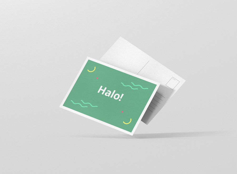 a6 postcard    flyer mock-up