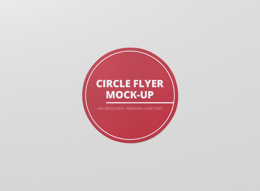 circle flyer mock up premium and free mockups for your awesome