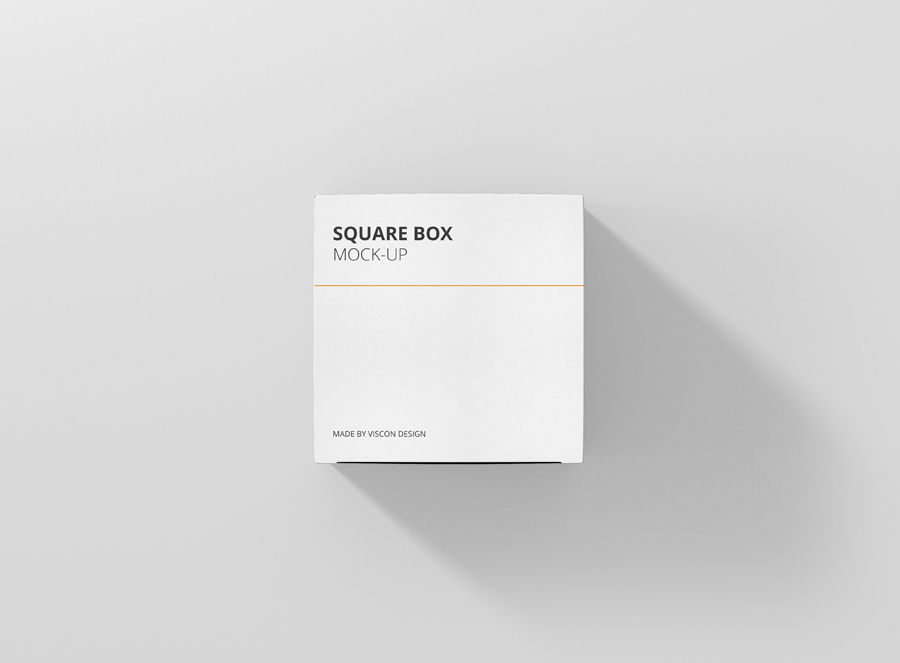 box mockup square top view