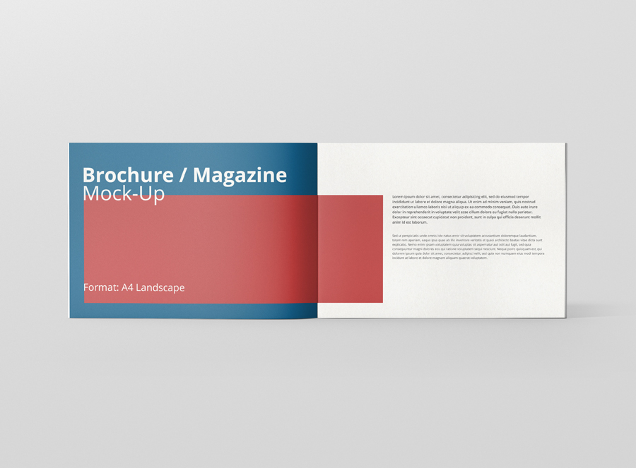 A4 Landscape Brochure / Magazine Mock-Up - Premium and ...