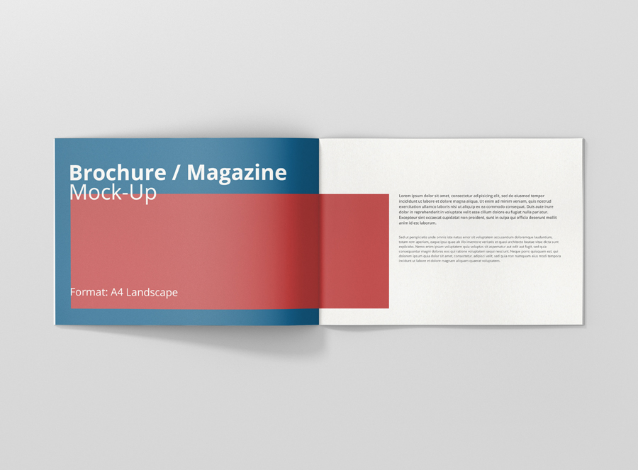 a4 landscape brochure    magazine mock-up