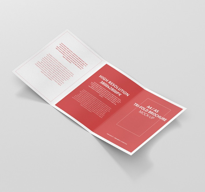 A  A TriFold Brochure MockUp  Premium And Free Mockups For