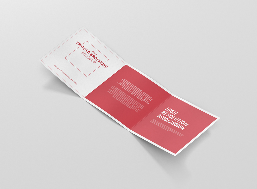 Square Tri Fold Brochure Mock Up Premium And Free