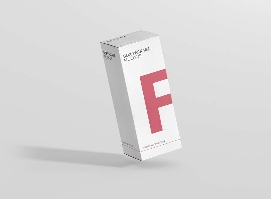 Package Box Mock Up High Rectangle Premium And Free