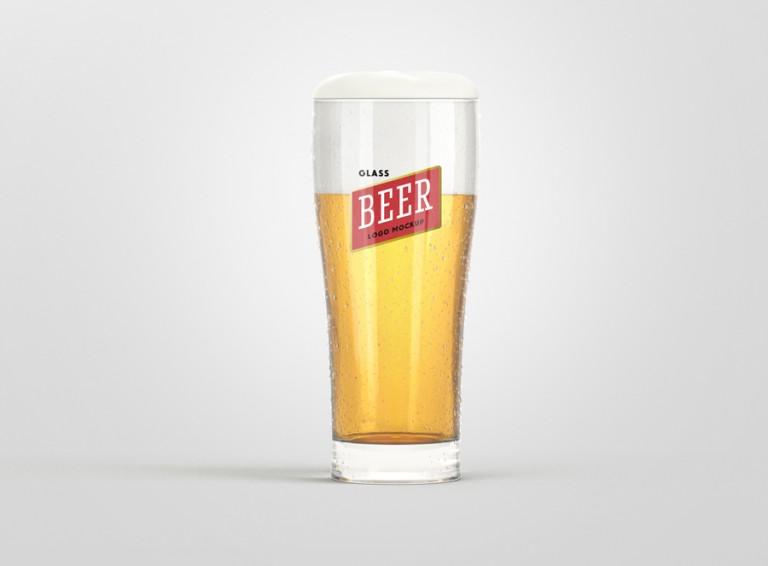 Beer Glass Logo Mockup