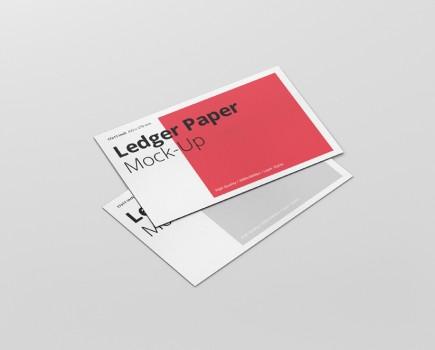 Ledger Paper Mockup