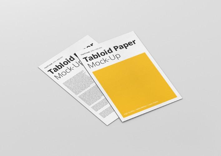 tabloid paper mockup