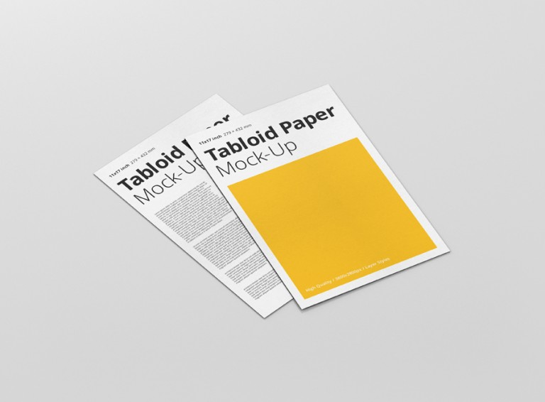 Tabloid Paper Mockup