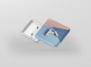 Square Badge Button Mockup