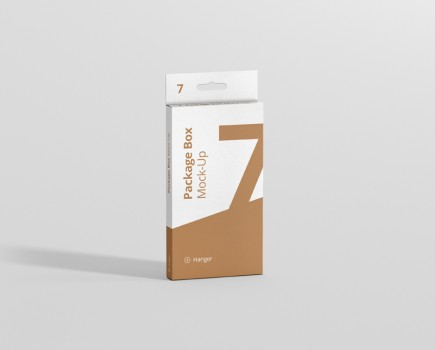Hanger Box Mockup High Flat Rectangle