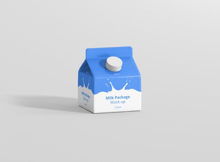 Milk Package Mockup 250ml