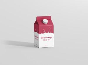 Milk Package Mockup 500ml