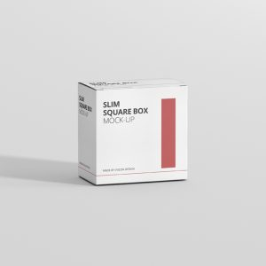 Box Mockup Slim Square