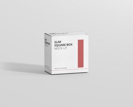 Box Mockup Slim Square