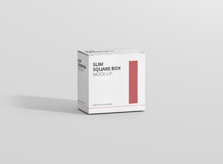 Slim Square Box Mockup