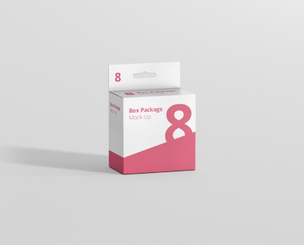 Hanger Box Mockup Slim Square