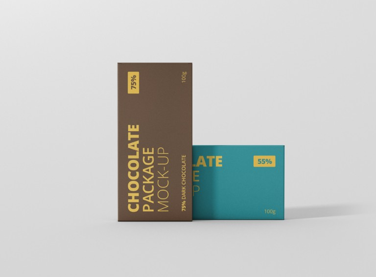 Chocolate Package Box Mockup