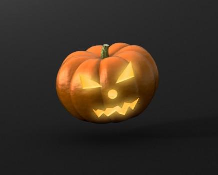 Pumpkin Halloween Mockup