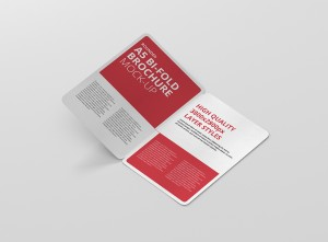 A5 Bifold Brochure Mockup Rectangle
