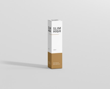 Box Mockup Slim High Rectangle