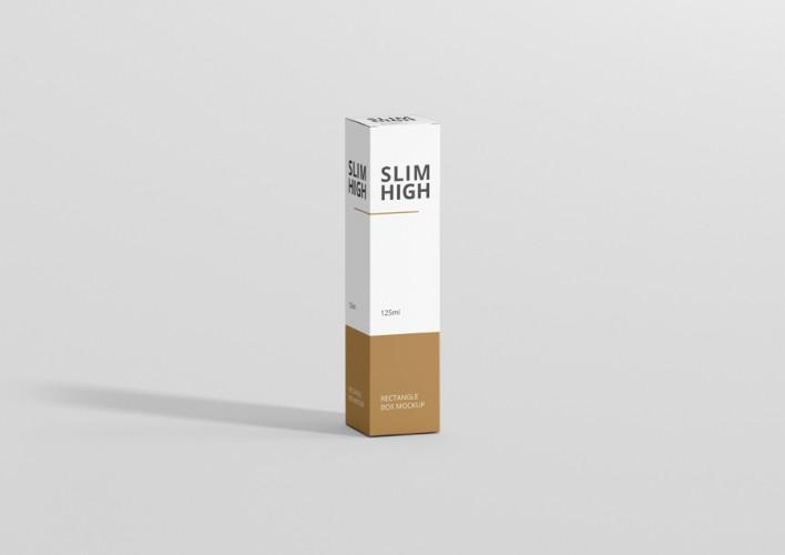 Box Mockup Slim High Rectangle