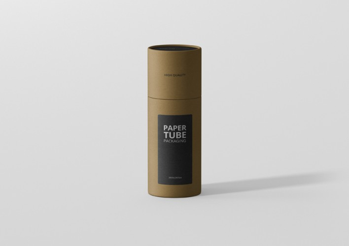 Paper Tube Mockup Slim Short