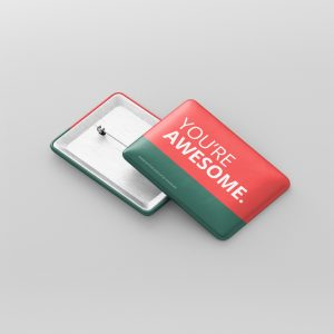 Rectangle Badge Button Mockup