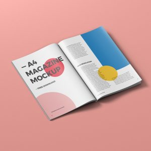 A4 Magazine Mockup Free Download