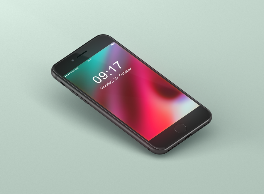 Iphone 8 Mockup Freebie Black