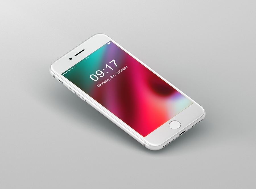 Iphone 8 Mockup Freebie White