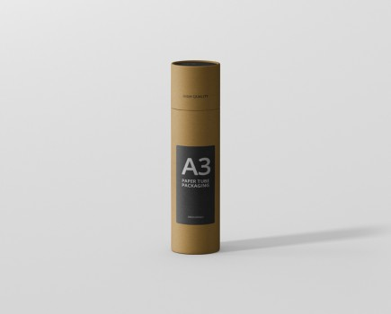 Paper Tube Mockup Slim High