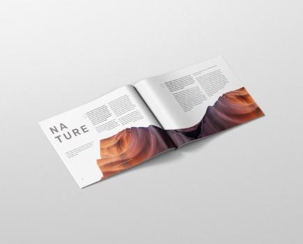 Magazine Mockup US Letter Landscape