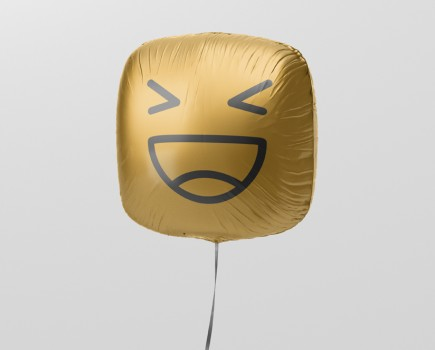 Square Balloon Mockup