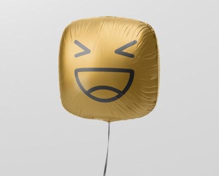Square Balloon Mockup