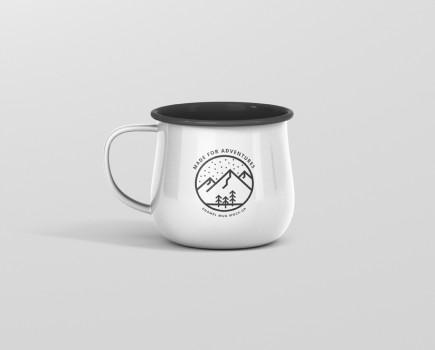 Round Enamel Mug Mockup