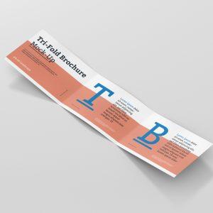 Tri Fold Brochure Mockup Din A4 Landscape
