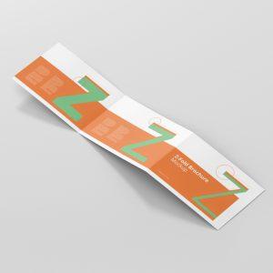 Z-Fold Brochure Mockup Landscape Din A4 A5 A6