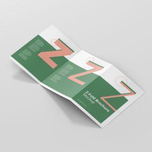 Z-Fold Brochure Mockup Din A4 A5 A6