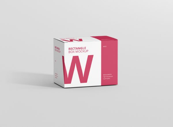 Box Mockup Wide Rectangle Big Size