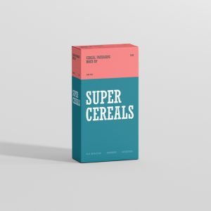 Cereals Box Mockup Slim Size