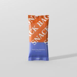 Snack Foil Bag Mockup Slim Size