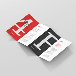 4 Fold Brochure Mockup DL Format