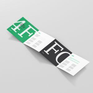 4 Fold Brochure Mockup Square