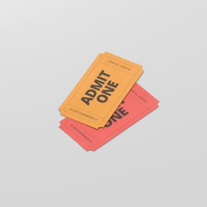 Event Ticket Mockup Small Size